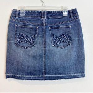 White House Black Market Denim Mini Skirt